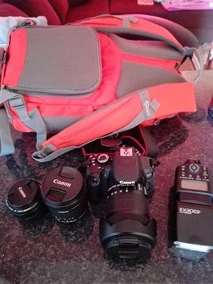 Camera + 18-135 stm + bag