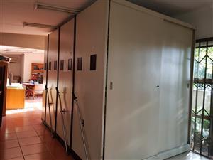 Metal 7 bank Filing Cabinet