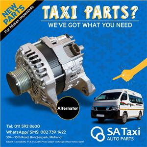 New Alternator suitable for Nissan NV350 Impendulo