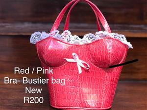 Pink / Red Bustier Bag