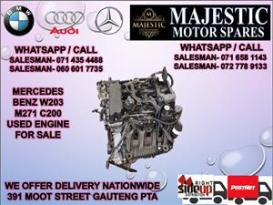 Mercedes benz W203 m271 c200 engine for sale
