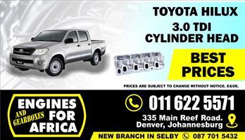 New Toyota Hilux 3.0TDI Cylinder Head 1KZ-TE Bare FOR SALE