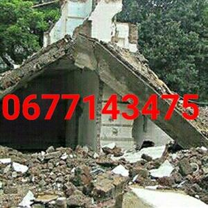 Rubble removal. Demolition. All areas