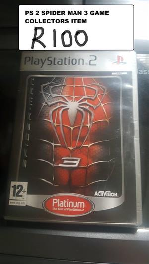 PS 2 Spiderman 3 game