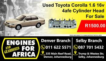 Used Toyota Corolla 4afe 1.6 16v Cylinder Head For Sale