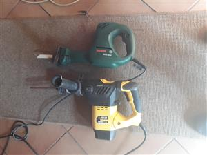 Bosch Electric Saw and Power Plus Drilling and Impact Machine