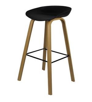 Hunter Counter Bar Stool With Metal Legs – Black or White Seat