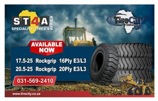 Big Sale on:  20.5-25 Tyres, 17.5-25 Tyres, Loader Tyres, Forklift Tyres & more at Tirecity in KZN