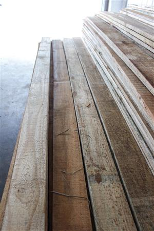 Pine planks and pallet wood