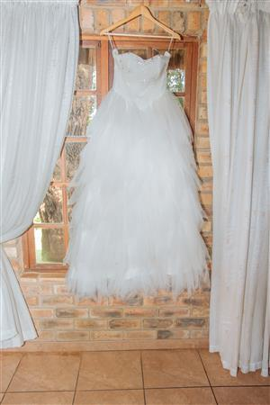 Ivory Wedding Dress and Veil