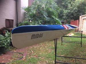 Canoe K1 Midas Blue & White – Very Good condition.  R 2'500