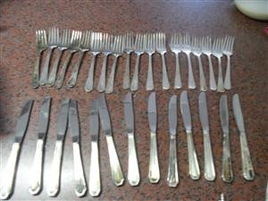 SILVER KNIVES AND FORKS