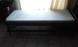 Steel bed single