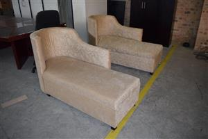2 Beige recliner couches