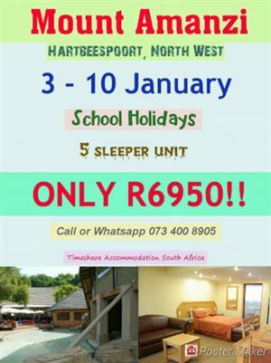 Mount Amanzi (3 - 10 January ~ School Holidays)