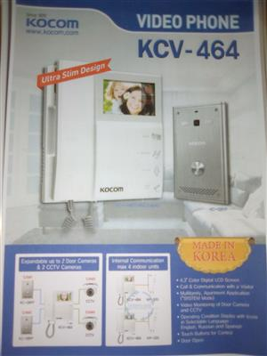 Kocom colour video intercom kit 4.3""