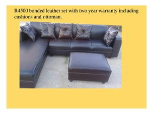 Custom made couches with a two year warranty.