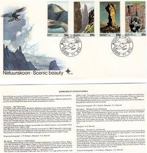 Commemorative Stamp & Envelope Set - Scenic Beauty of South Africa 1986