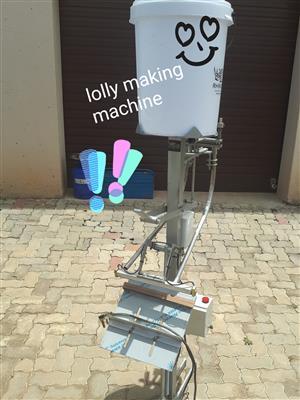 Ice lolly machine, very popular at flea markets