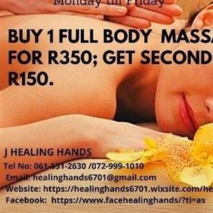 Massages R350 and get 1 for R150
