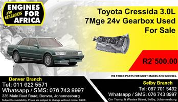 Toyota Cressida 3.0L 7Mge 24v Gearbox Used For Sale.