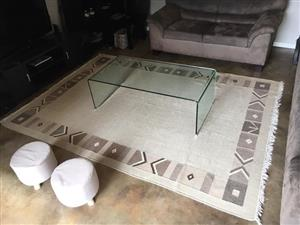 Large beige and brown carpet for sale