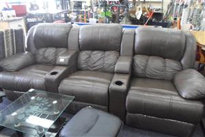 6 Seater Leatherette Recliner Lounge Suite