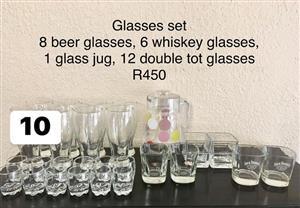 Glasses set for sale