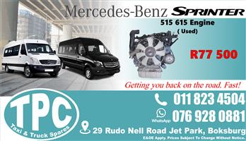 Mercedes Sprinter 515 615 Engine - Used - Quality Replacement Taxi Spare Parts.