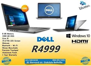 Demo Dell Inspiron 15-5548 Laptop, Core i5, 8GB ram, 1TB hard drive, Bluetech Computers, used for sale  Cape Town - Northern Suburbs