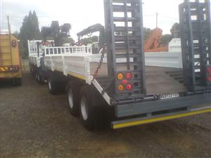 Mercedes 4140 Actross Double steer combo with Vanco trailer
