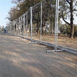 Steel fence for hire units 2m high x 2m long R35 per Meter.