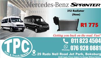 Mercedes Sprinter 312 Radiator  - New- Quality Replacement Taxi Spare Parts.
