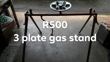 3 Plate gas stand for sale