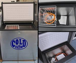 COLD FACTOR 3 WAY (12V,220V, GAS) AND 2 WAY (220V, GAS) STAINLESS STEEL CAMP FREEZERS - 3YR WARRANTY