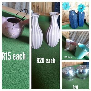 Vases and buckets for sale