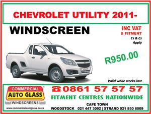 Chevrolet Utility 2011- Commercial Auto Glass Windscreen Special