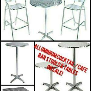 Alluminium Bar / CAFE Barstools and Tables for Sale