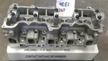 OPEL CORSA 1.7D 8V (4EE1) CYLINDER HEADS BARE (BRAND NEW)