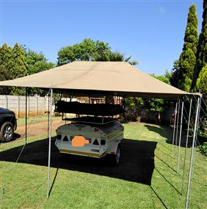 Roof top tent with extra tent