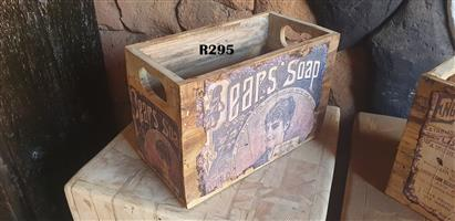 Vintage Pears Soap Crate (445x240x305)