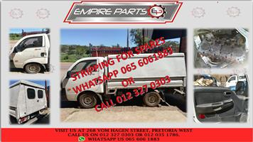 STRIPPING FOR SPARES KIA K2700 and HYUNDAI H100