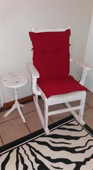 Rocking chair en Imbuia kas