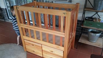 Wooden baby bed or cot for sale