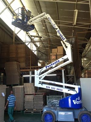 VerticalZA Upright AB46E - 15m Boom Lift Cherry Picker, ELECTRICAL Manlift