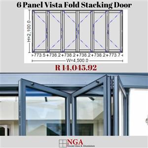 NGA 6 Panel Vista Fold Stacking Door