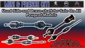 Used Side and Drive Shaft  for sale on all Peugeot Models