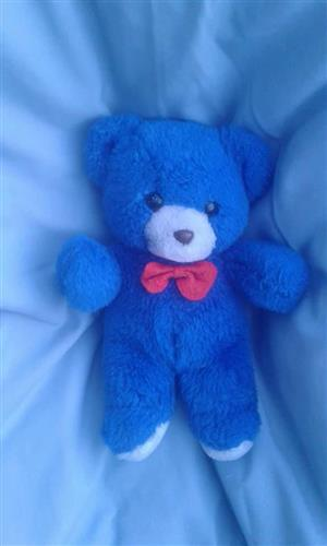 Blue and white teddy for sale