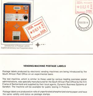 Commemorative Stamp & Envelope Set - Introduction of Postage Labels 1985