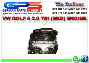 VW GOLF 5 2.0 TDI (BKD) ENGINE FOR SALE